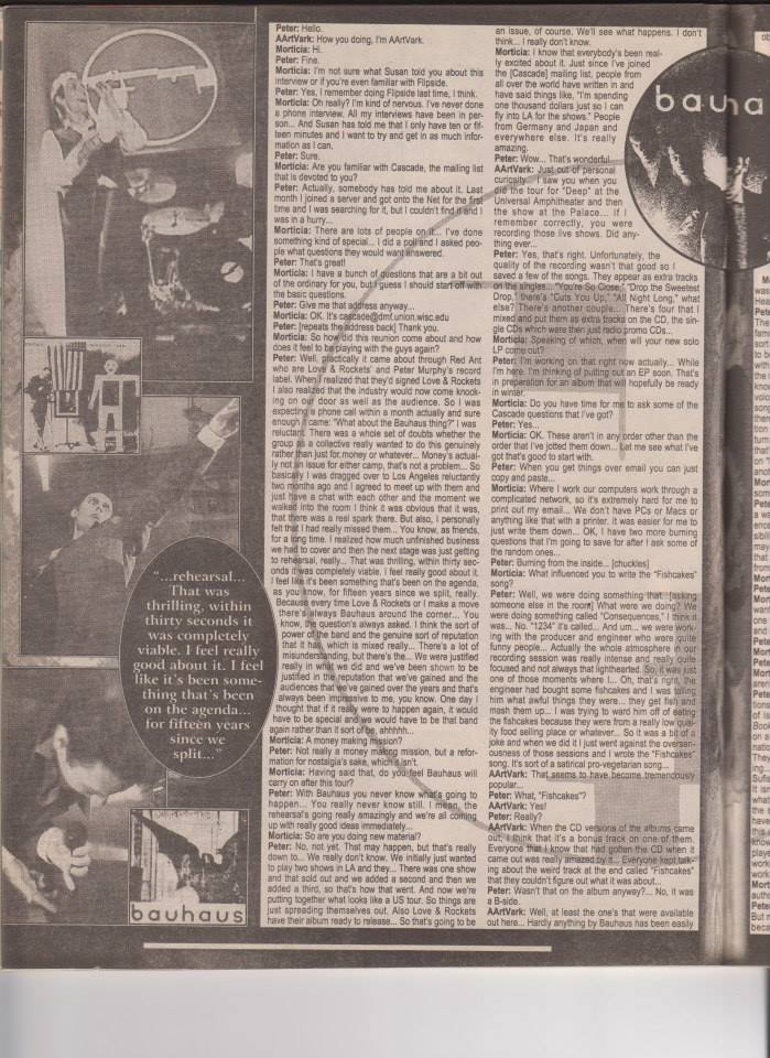 Bauhaus Flip Side Magazine November 1998 Part 3