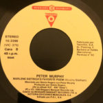 "Peter Murphy Deep Tour Sampler ES 7"" Promo 1990 B Label"