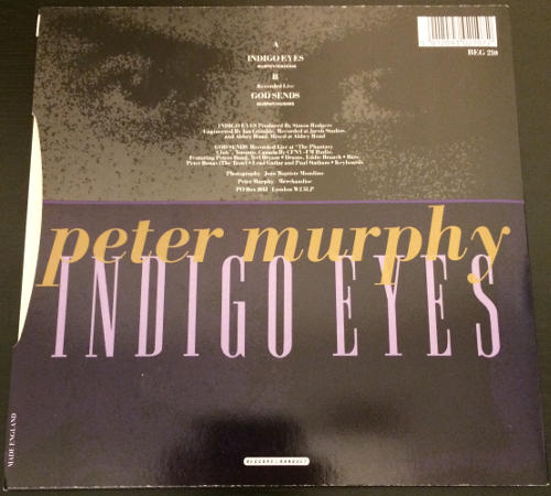 "Peter Murphy Indigo Eyes UK 7"" Box Set 1988 Back Cover"